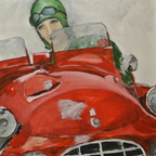 Cars Red 80x80 cm