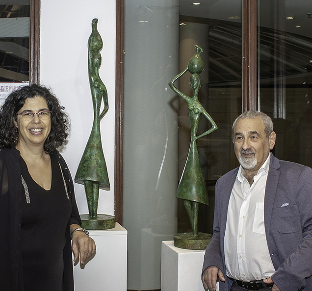 Michal Elazar Zur and her sculptures.jpg