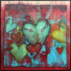 open your heart for our world, Acryl a.L., 70x70 cm